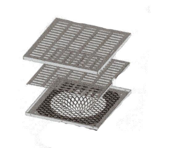 grille inox blanche d 39 arriv e d 39 air frais indirecte par le sol welem. Black Bedroom Furniture Sets. Home Design Ideas