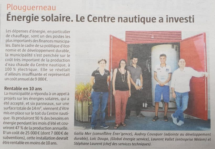 Chauffe-eau solaire Maison de la mer à Plouguerneau